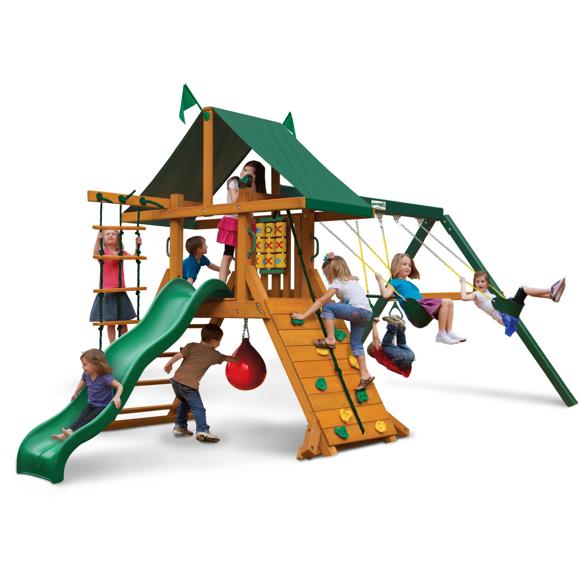 Gorilla Playsets Ozark Cedar Wooden Swing Set
