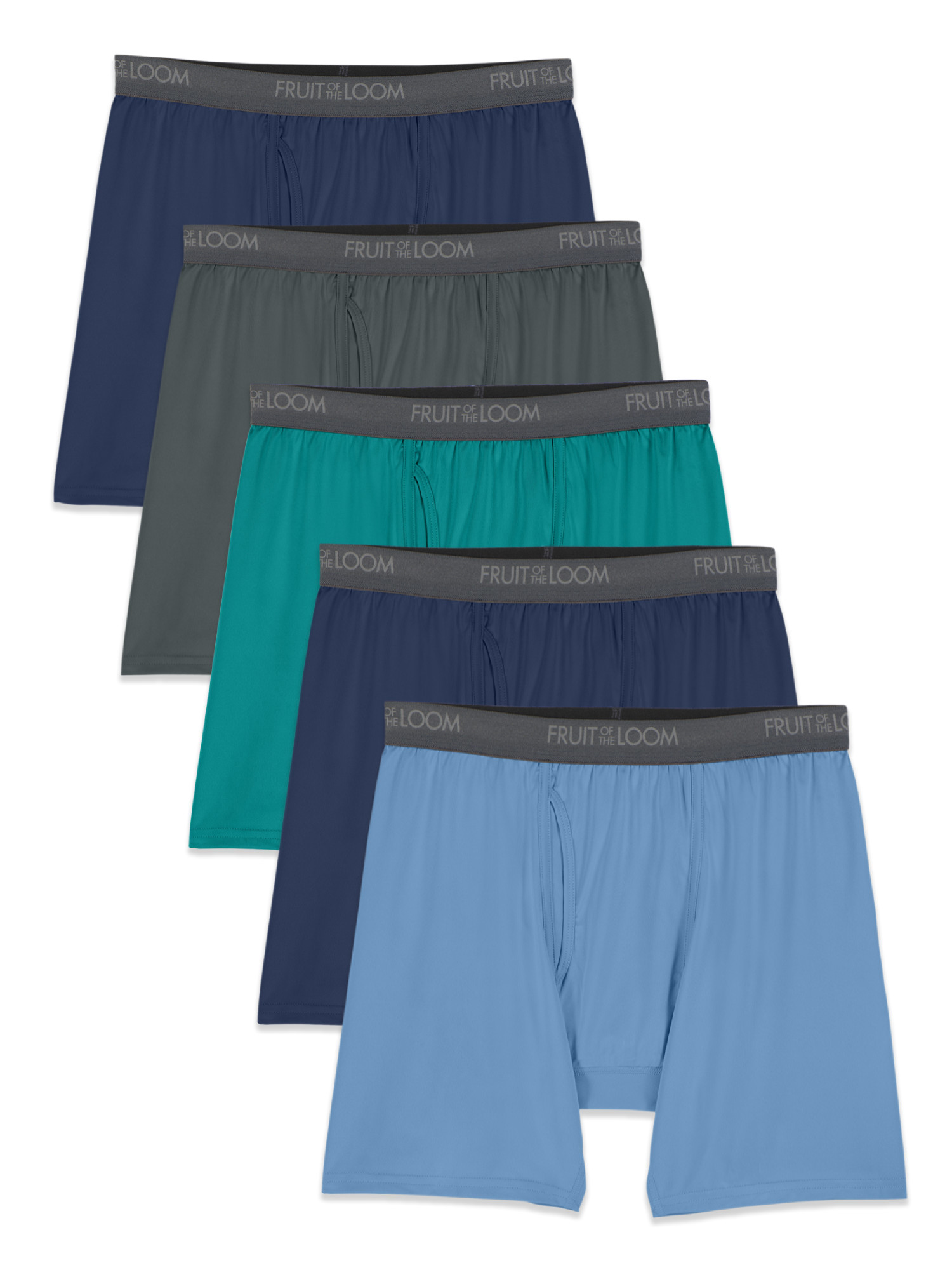 Fruit of the Loom Men's Micro-Stretch Boxer Briefs, 5 Pack