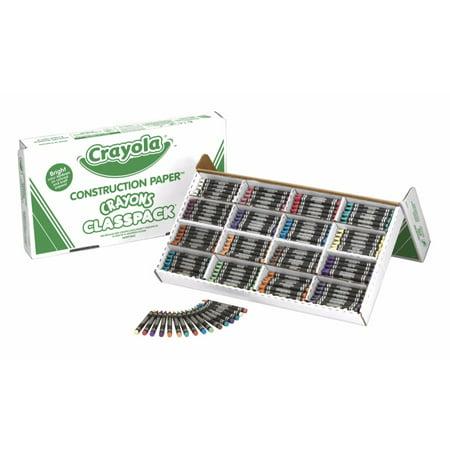 Crayola 078640 Regular Non-Toxic Construction Paper Crayon, Pack Of 400