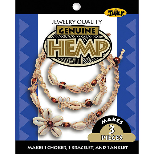 Toner Hemp Jewelry Kit, Small Shell Cowrie