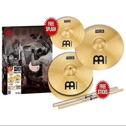 Meinl HCS Three for Free Cymbal Pack with Free Splash by Meinl