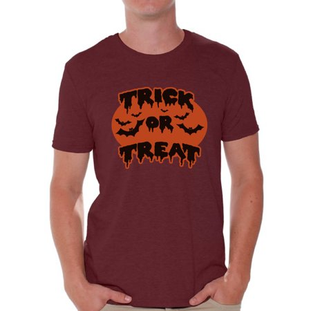 Awkward Styles Men's Halloween Graphic T-shirt Tops Trick or Treat Scary Bats - Halloween Bat Treats