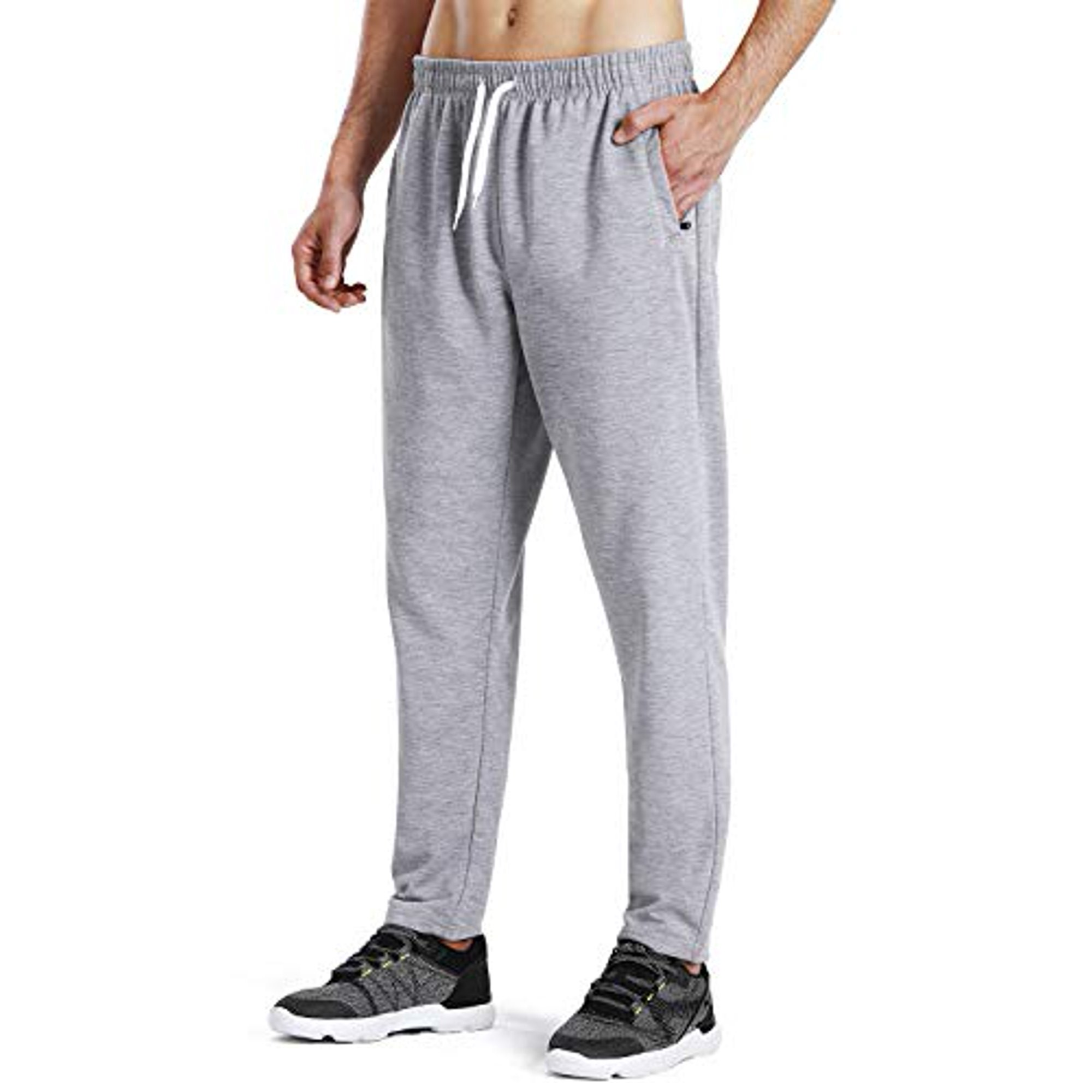 NAVISKIN Men's Athletic Running Pants Workout Training Pants Zip Pockets  Light Grey Size S | Walmart Canada