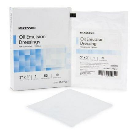 Oil Emulsion Dressing (McKesson Oil Emulsion Impregnated Dressing 61-77041 3 X 3 Inch Box of 50, White )
