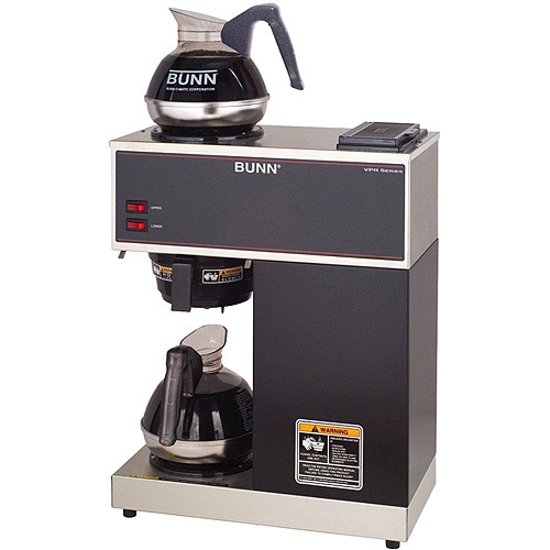 BUNN VPR 12-Cup Commercial Coffee Brewer, 2 Warmers, 33200
