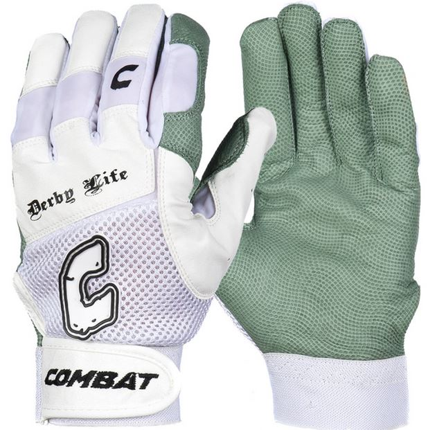 Combat Derby Life Ultra Batting Gloves White-XLarge