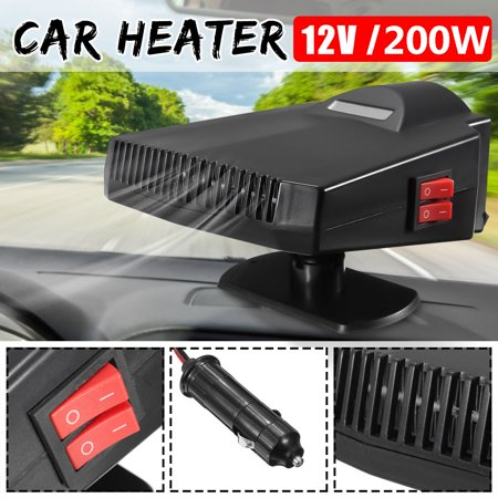 Portable 2 in 1 200W 15A Vehicle Car Summer Cooler Fan & Winter Heater Electronic Air Heater 12V Car Windshield Heater Defogger Demister Defroster Plug Into Cigarette Lighter](Car Fangs)
