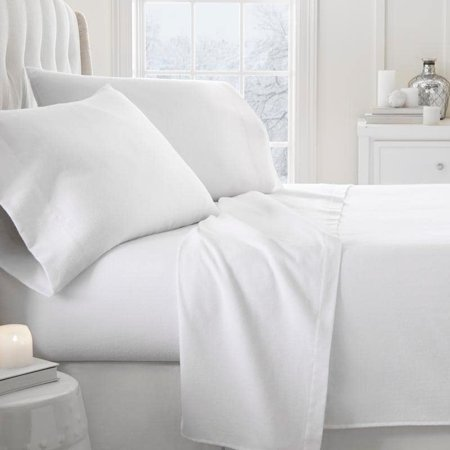 - Merit Linens  Premium 4 Piece Ultra Soft Flannel Bed Sheet Set