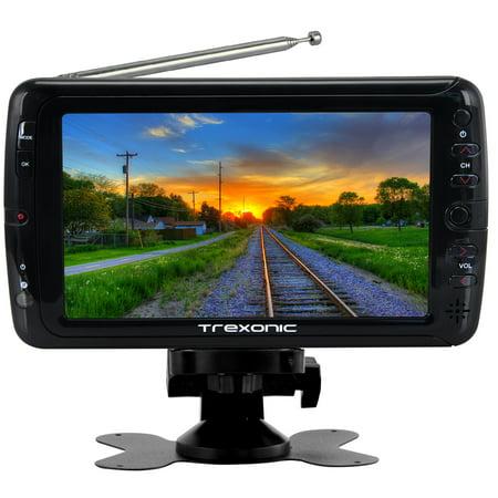 Dual Plasma Tv (Trexonic Portable Ultra Lightweight Rechargeable Widescreen 7