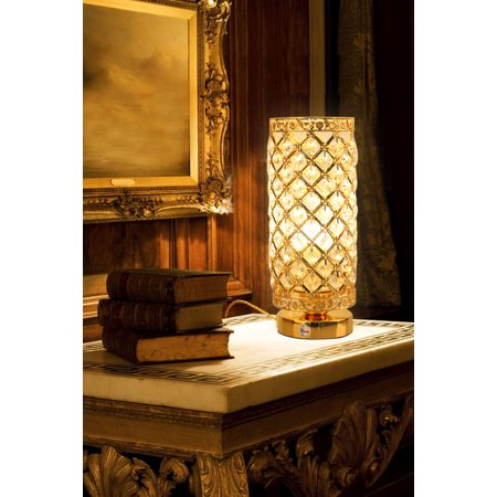 Fuloon Creative LED Crystal Lamp Gold Eye-protection Table Lamp (bulb not included ) [Energy Class A+] ()