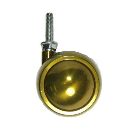 Brass 1/8' Stem (Swivel Brass Planet Ball Caster 2-1/2