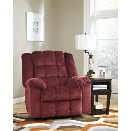Flash Furniture Signature Design By Ashley Ludden Power Rocker Recliner In Burgundy Twill