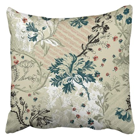 ARHOME Weave Weaving Flowers and Leaves Design in Combination with Lace Pattern Baroque Old Pillowcase Cushion Cover 18x18 inch ()
