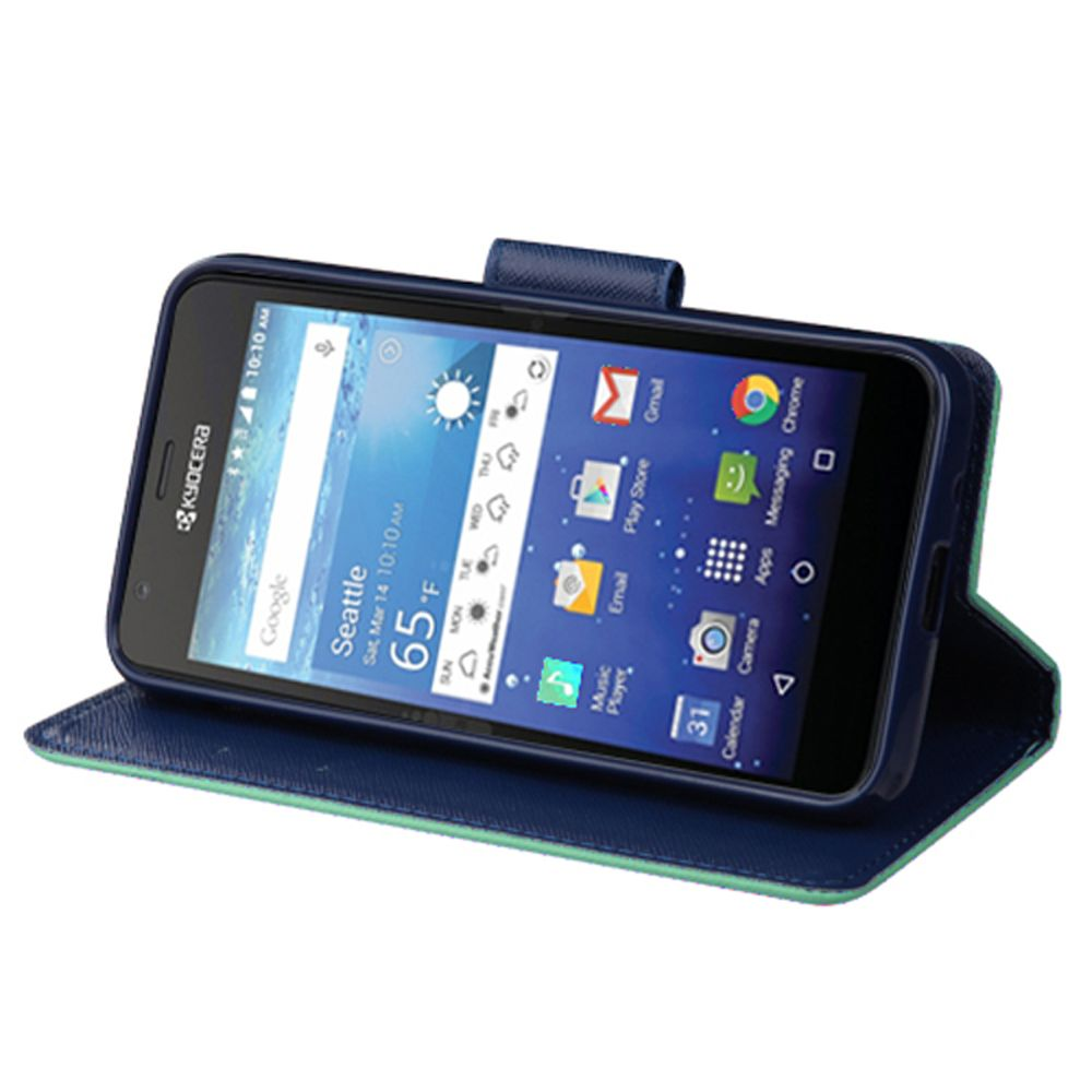 Kyocera Hydro Wave Phone Case, Kyocera Hydro Wave Case, by Insten Book-Style Leather Cover Case with card slot For Kyocera Hydro Wave case cover - image 2 of 3