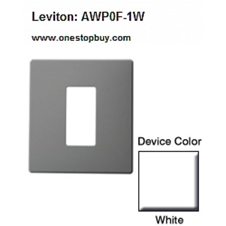 (Leviton AWP0F-1W Renoir II Wallplate 1 Narrow-0 Wide Dimmers - White)