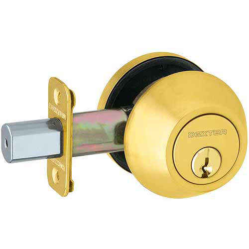 Schlage JD62V605 Bright Brass Double Cylinder Deadbolt
