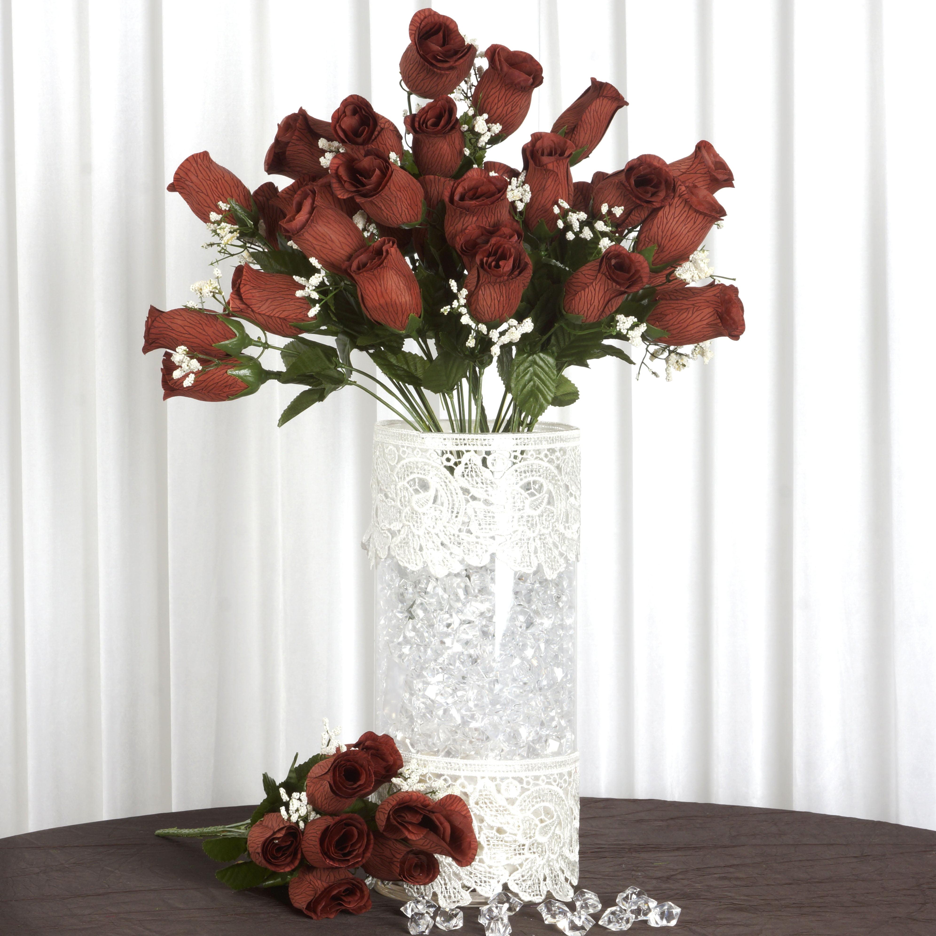 Efavormart 84/pk Velvet Rose Buds Wedding Flowers Supply for DIY ...