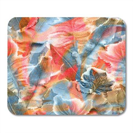 LADDKE Tropical Hawaiian Watercolor Exotic Leaves Palms Banana Monstera Frangipani Passion Fruit Beautiful Mousepad Mouse Pad Mouse Mat 9x10