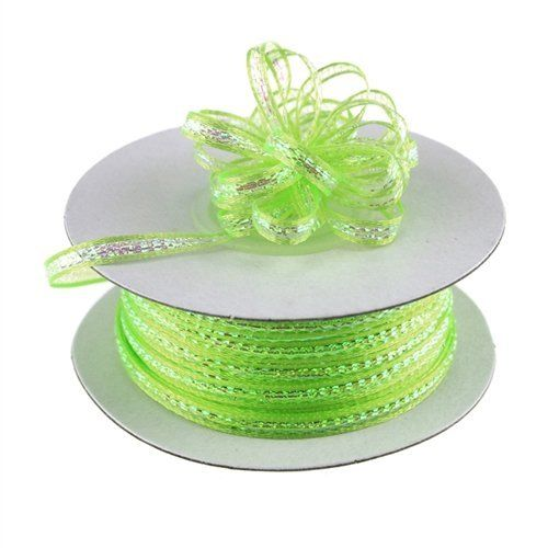 """1/8"""" X 50 Yards Iridescent Pull String Bows Ribbon Art Party Wedding Favor"""