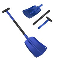 Collapsible Snow Shovel - Aluminum Adjustable Spade with Easy Grip Handle for Roadside Emergency Kit and Safety in Vehicles by Stalwart (Blue)