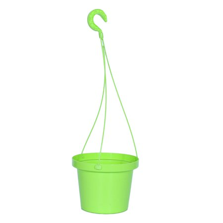 Simple Hanging Plastic Flower Plant Pot Spider Plant Basket Planter Holder Home Decoration - Green