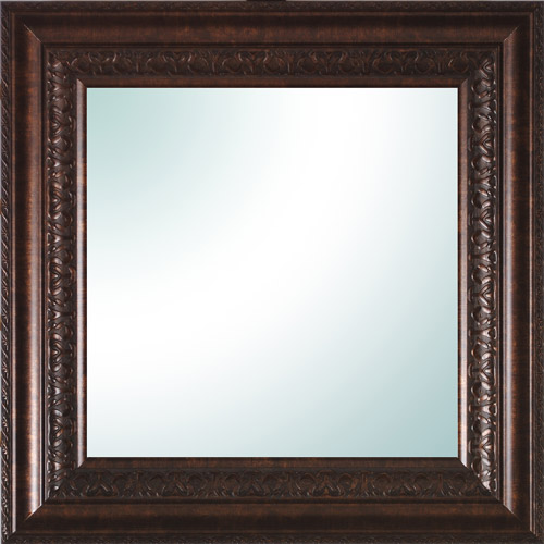 "14"" x 14"" Bronze Ornate Square Mirror"