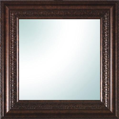 """14"""" x 14"""" Bronze Ornate Square Mirror"""
