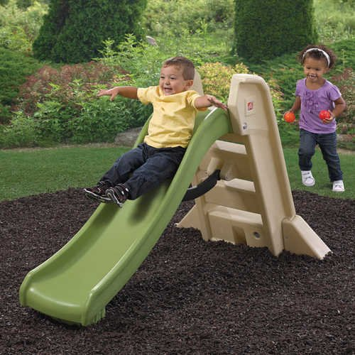 Step2 Naturally Playful Big Folding Slide, Green and Tan