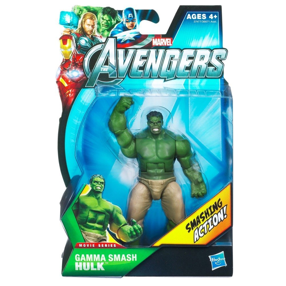 Marvel Avengers Movie 4 Inch Action Figure Gamma Smash Hulk, Legendary hero figure is poised to smash his opponent. By Hasbro From USA