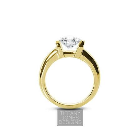 0.79ct G-SI1 Exc Round AGI Natural Diamond 14k Classic Engagement Ring 6.79 gram