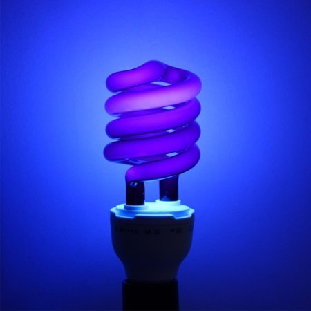 Spiral Energy Saving Black Light with Screw-socket UV Lamp for Aquatic Products Poultry Crop Breeding Halloween Decoration - Black Light Decoration Ideas