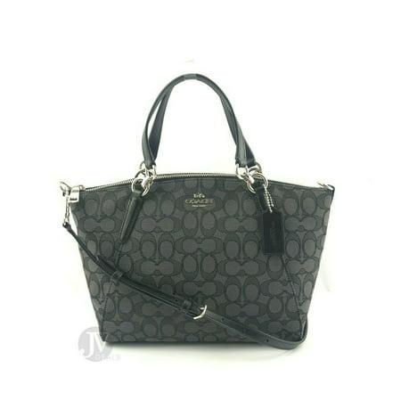 Coach (F27582 F28993) Small Kelsey Satchel Crossbody Hand Bag Black Demi Handbag