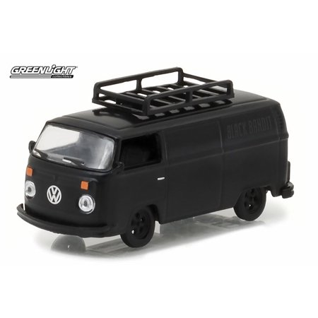 1974 Chevrolet P30 Van - 1974 Volkswagen Type-2 Panel Van, Black - Greenlight 27930B/48 - 1/64 Scale Diecast Model Toy Car