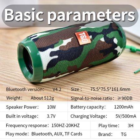 TG117 Bluetooth Outdoor Speaker Waterproof Portable Wireless Column Loudspeaker Box red