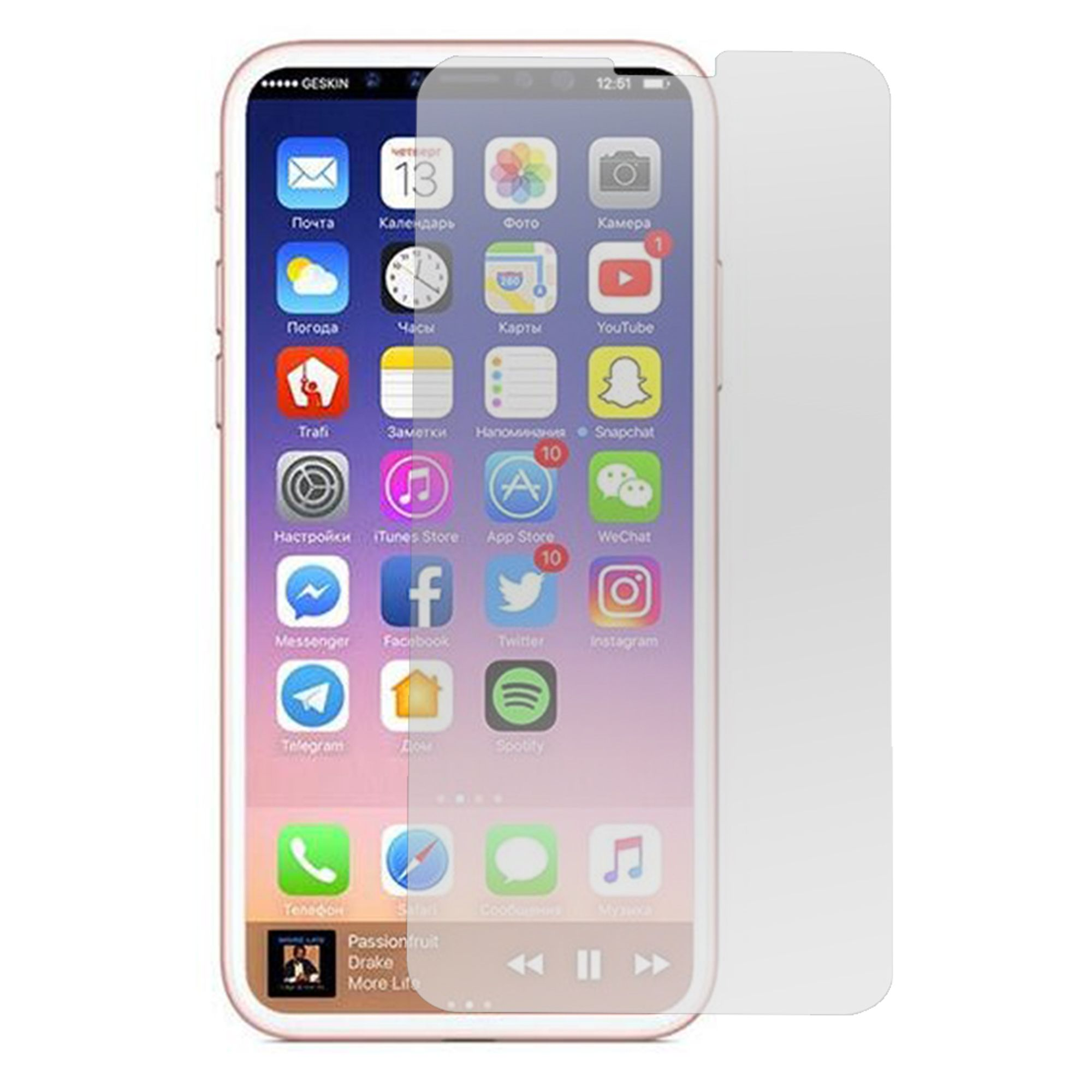iPhone X XS glass screen protector by Insten Clear Tempered Glass Screen Protector Film Cover For Apple iPhone X XS