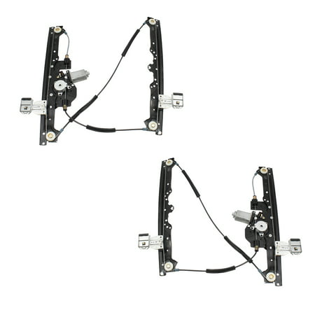 BROCK Pair Set Front Power Window Regulators w/ Motors