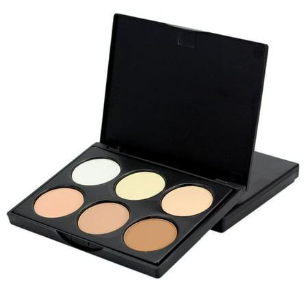 6 Colors Cream Concealer Highlight Face Contour Foundation Pallete Set