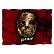 Friday The 13Th Bloody Mask (Front Back Print) Poly 20X28 Pillow Case White One Size