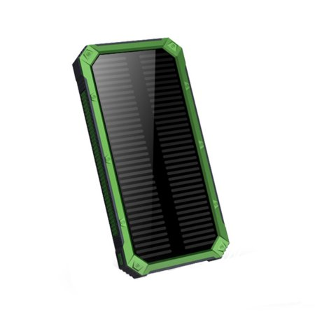 20000mAh Dual USB Mobile Charger Outdoor Solar Charger Phone Charger with LED Flashlight Outdoor Travel
