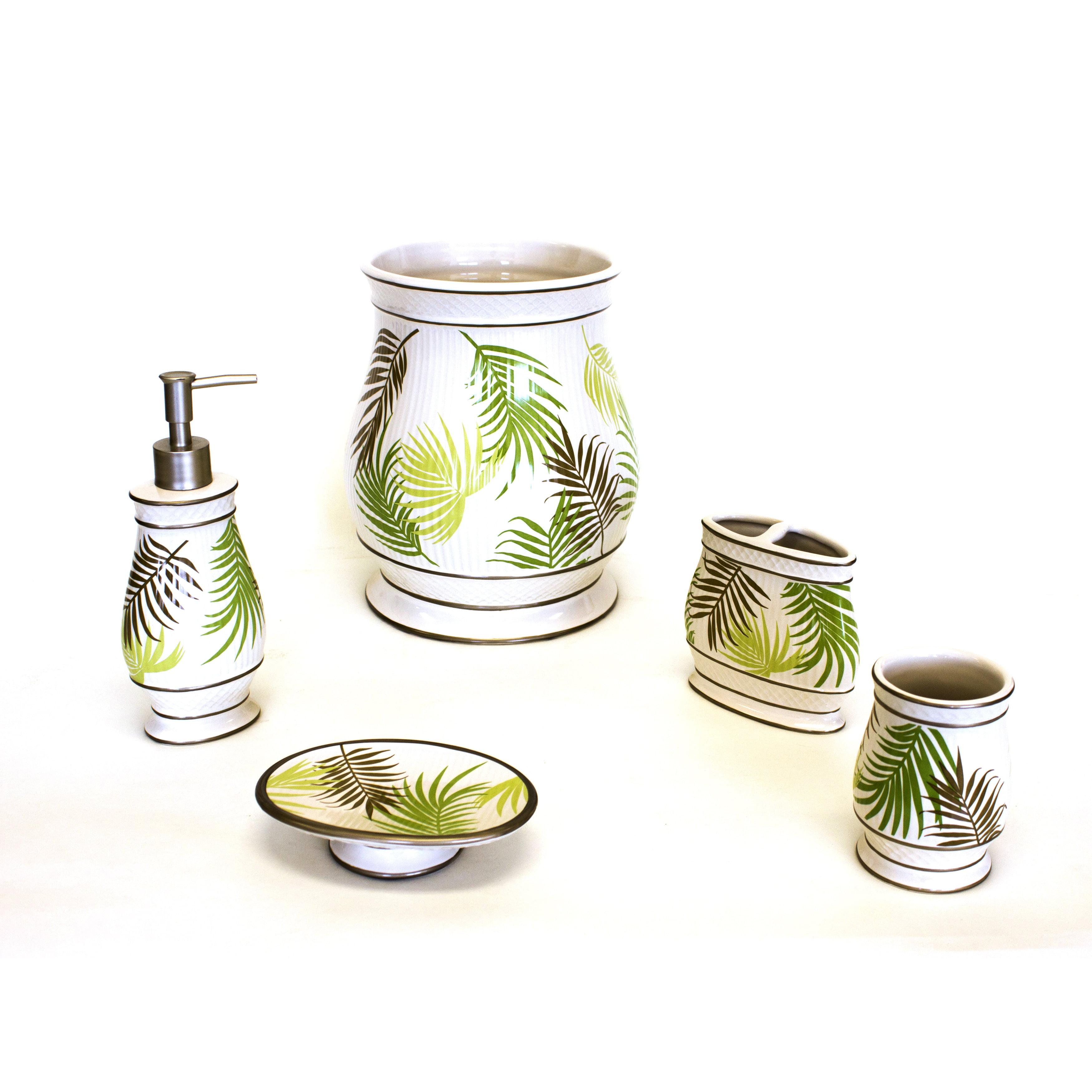 Sherry Kline Sago Palm Bath Accessory 5-piece Set