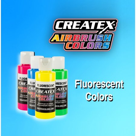 Fluorescent Createx 5400 Airbrush Artist Colors 2.0 oz Bottle - Gallon Size Neon Vibrant Paint Options Createx Paint 2 Oz Bottle