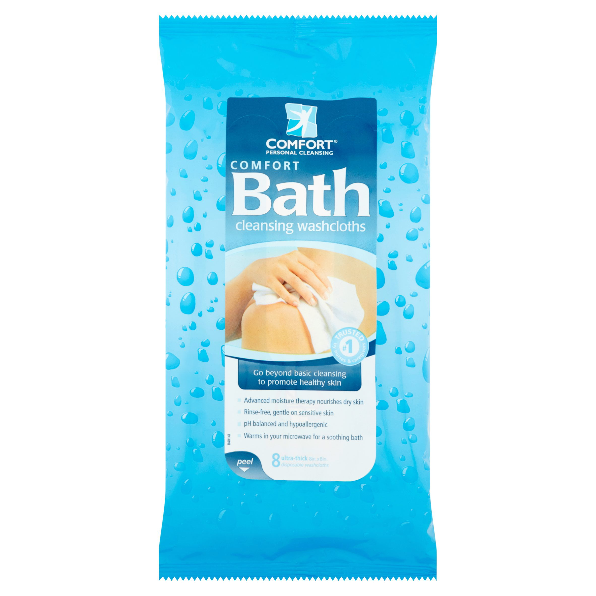 Comfort Bath Cleansing Washcloths - Ultra Thick Disposable 8\
