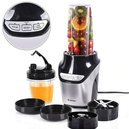 Costway Electric Blender Fruit Mixer Grinder Fruit Vegetable Processor 1000W 2