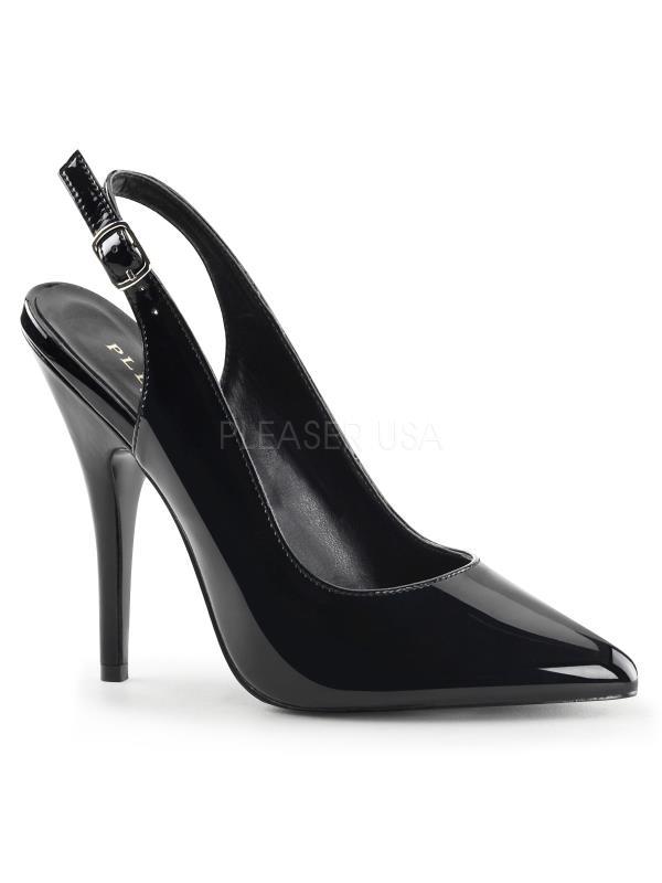 "SED317/B Pleaser Single Soles 5"" Heel Shoes BLACK Size: 16"