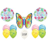 Butterfly Birthday 12 piece Balloon Bouquet