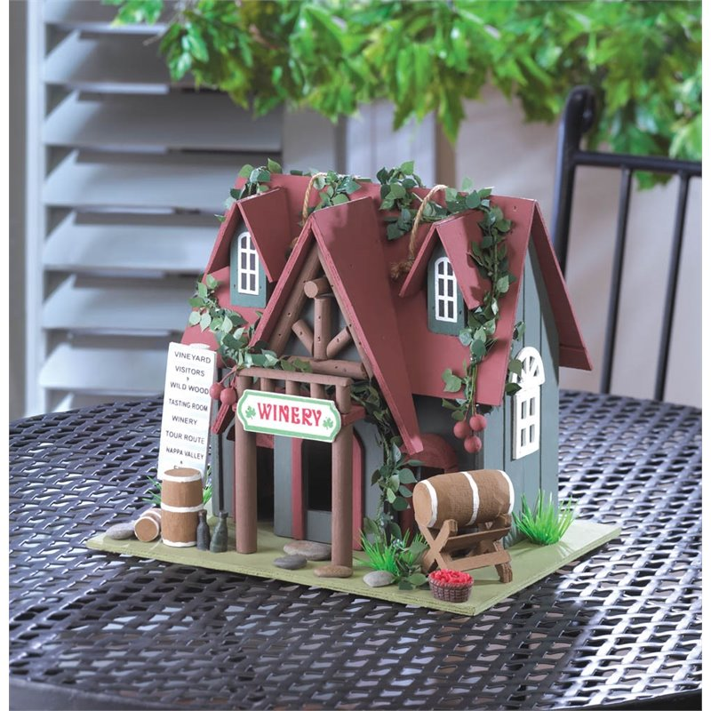 Zingz and Thingz Cottage Winery Birdhouse by Koolekoo