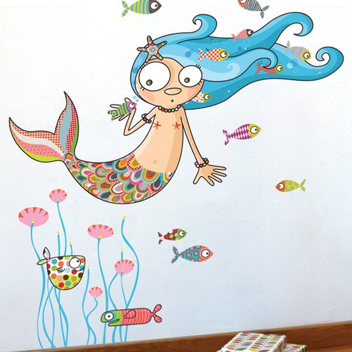ADZif Ludo The Mermaid Wall Decal