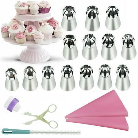19Pcs Cake Cookie Sugar Macaron Decorating Supplies tips Kits-14 ...