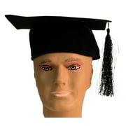 Hayes Happy Graduation Full-Size Adult Grad Cap 10.5in Party Hat, Black