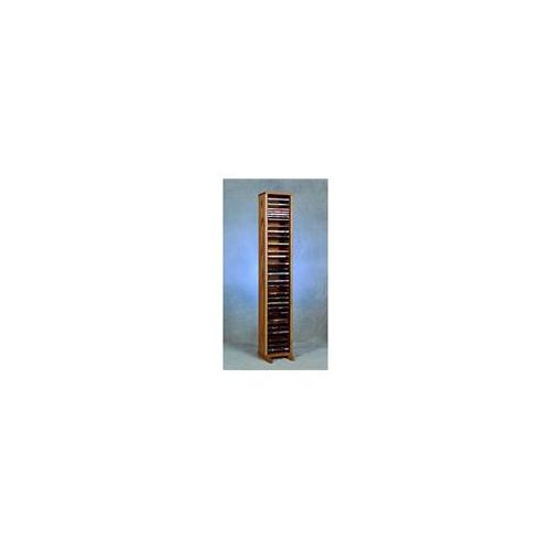 Wood Shed 110-4 VHS Solid Oak Tower for VHS Tapes - Individual Locking Slots